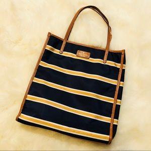 Kate Spade nautical stripe shopper tote bag