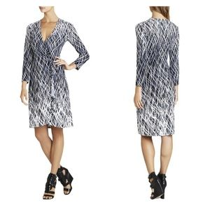 BCBG Adele Printed Wrap Dress