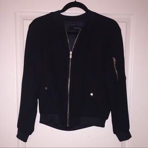 NEVER WORN ZARA black bomber jacket