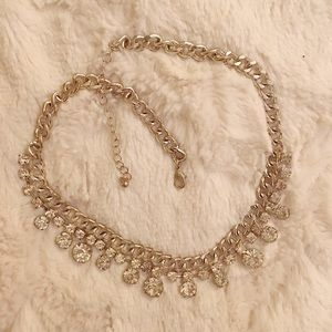 WORN ONCE | FAUX DIAMOND STATEMENT NECKLACE