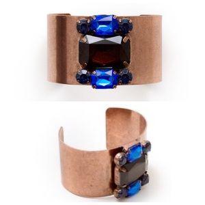 Jewelmint STORMY STONES open Cuff Crystal Bracelet