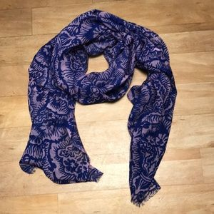 Juicy Couture Floral Wool Scarf