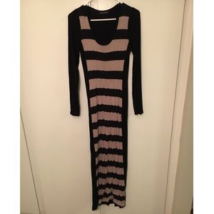 Fitted Cotton Long-sleeve Dress