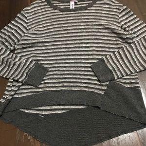Wilt Asymmetrical Striped Top