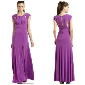 BCBG MaxAzaria long lilac dress