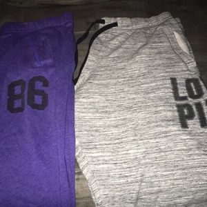 2 pairs of Vs pink sz l sweats