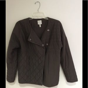 Nordstrom Leith Quilted Asymmetric Jacket