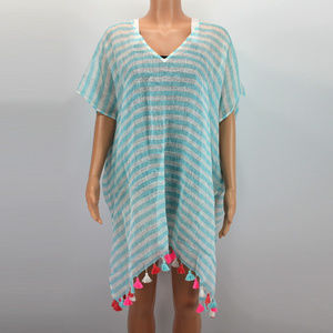 Anthropologie Seafolly Striped Kaftan Cover-Up O/S