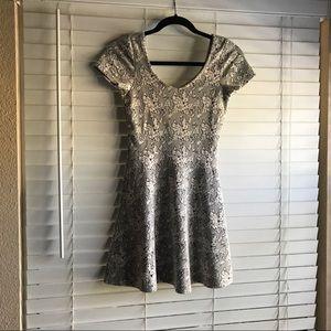 NWOT Topshop Dress Size 4 b&w