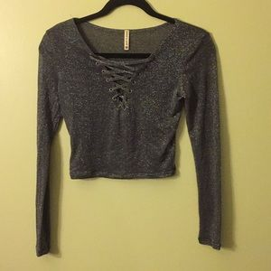 Brand new without tags long sleeves crop top