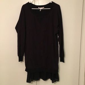 BCBG Layered Textured Sweater Dress