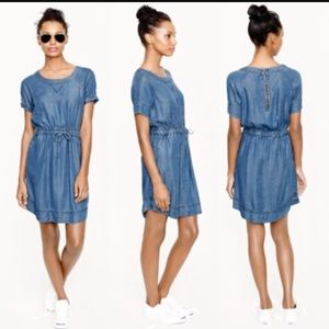 J. Crew Chambray Denim Drawstring Dress, size XS