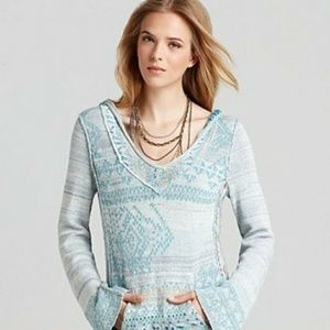 Free People Dreamtime Story Hooded Fringe Sweater