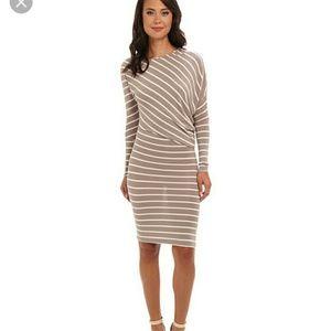 Hilda Long Sleeve Side Draped Dress