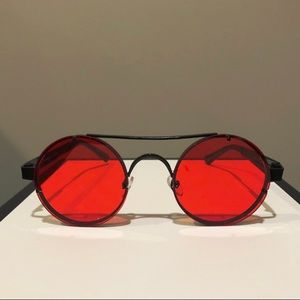 Round Frame Steampunk Sunglasses