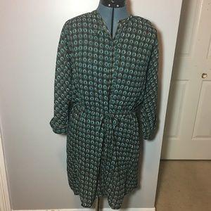 Bar III sheer dolman, elastic waist dress/tunic
