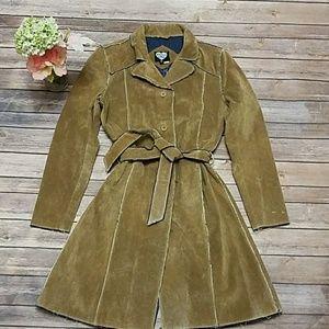 Ashley by 26 international suede leather coat Sz M