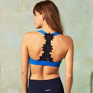 Aerie Chill Sunflower Lace Sports Bra