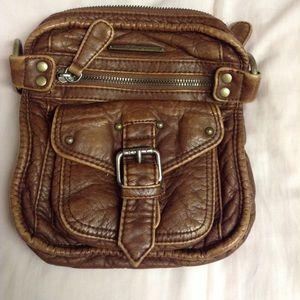 Roxy Leather Handbag (faux) Cross Body Brown Purse