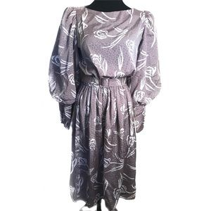Beautiful vintage dark silver dress