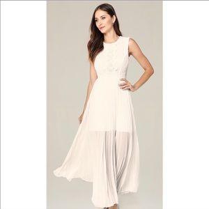 Bebe Sleeveless Lace Backout Dress