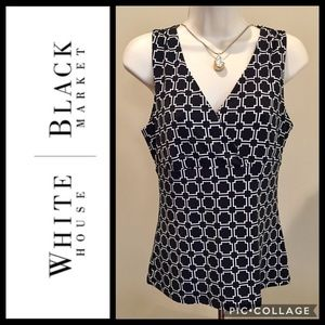 WHITE HOUSE BLACK MARKET Stretch Tank Top EUC