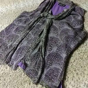 Jones New York purple silk blouse sz14