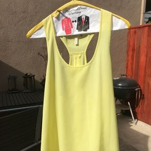 Frenchi yellow chiffon tank