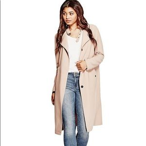 NWT Blush pink trench coat (GUESS size small)