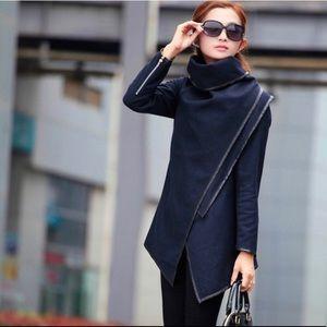 Women windbreaker woolen Cashmere Wrap  Outerwear