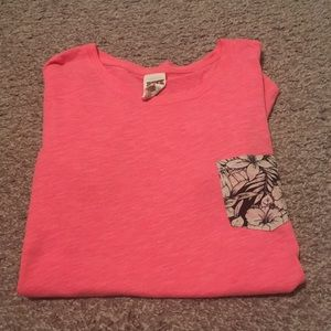 VS Pink Tee with Floral Pocket