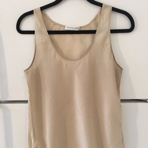 Everlane Beige Off White 100% Silk Tank Top Size M