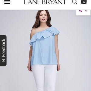 Lane Bryant off the shoulder denim top