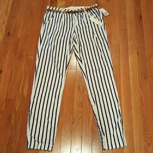 Forever 21 Striped Ankle Pants