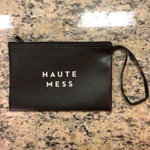 BRAND NEW w/ tags MILLY Haute Mess Black Pouch