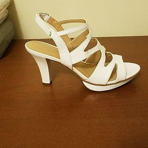 Naturalizer Dianna White High Heels