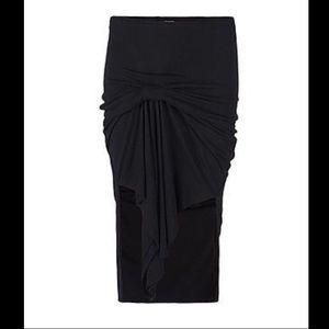 All saints riviera skirt in black NWT