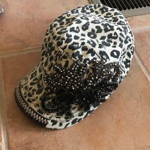Cheetah Bling Hat