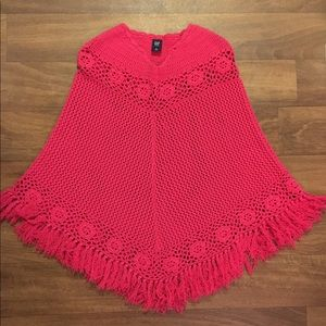 Gap Hot Pink Knitted Poncho