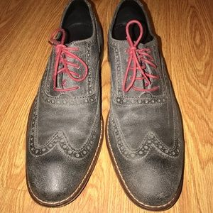 Cole Haan AIR COTTON Gray Suede Wingtip oxford
