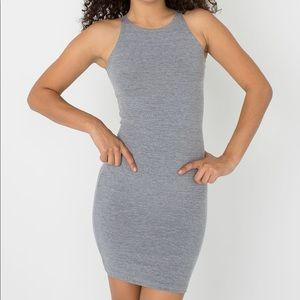 american apparel gray sleeveless spandex dress