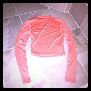 NEW Small long sleeve mock high neck crop top