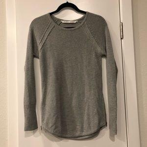 Grey Athleta knit sweater