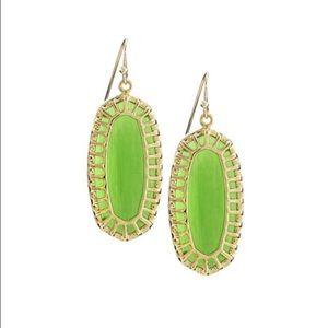 Kendra Scott Dayla Oblong Peridot Drop Earrings