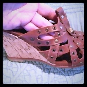 Naturalizer Leather/Cork Wedge