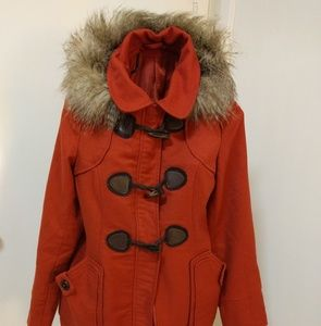 ModCloth Harvest Fest Coat in Vermillion