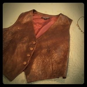 Leather Vest by Karen Kane