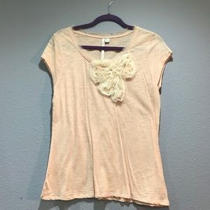 Lauren Conrad Short Sleeve Peach Pink Large