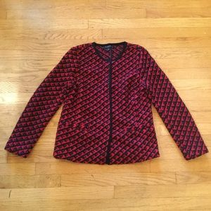 Talbots S Wool Tweed Bouclé Cardigan SweaterJacket