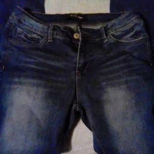 Wax dark wash jeans
